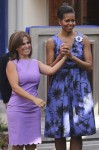 Michelle Obama In Jason Wu - Ciudad Mujer Women's Center