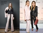 Ashley Olsen & Mary-Kate Olsen In The Row - CFDA Fashion Award Honorees Announcement