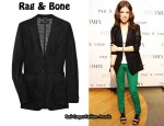 In Anna Kendrick's Closet - Rag & Bone 42nd Street Silk-Trimmed Stretch-Mesh Blazer