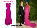 In Shala Monroque's Closet - Jason Wu Ruffled Silk Gown