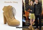 In Teresa Palmer's Closet - Alexander Wang 'Dakota' Lace Up Ankle Boots