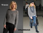 In Dakota Fanning's Closet - Vince Cable Sweater