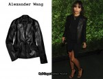 In Zoe Kravitz' Closet - Alexander Wang Leather Blazer