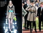 Zara Phillips In Burberry Prorsum - Cheltenham Festival
