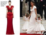 Pippa Middleton In Alexander McQueen - 2011 Royal Wedding