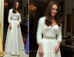 Catherine Middleton In Sarah Burton For Alexander McQueen - 2011 Royal Wedding Evening Celebrations