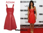 In Veroncia Webb's Closet - Adam Red Leather Dress