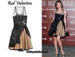 In Milla Jovovich's Closet - Red Valentino Glossed-Twill and Tulle Dress