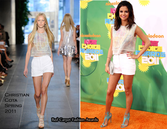 justin bieber and selena gomez kids choice awards 2011. Best Shoes/Best Dressed Award