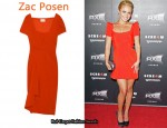 In Hayden Panettiere's Closet - Zac Posen Orange Draped Dress