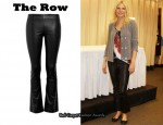 In Gwyneth Paltrow's Closet - The Row Comet Cropped Leather Pants