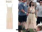 In Katy Perry's Closet - D&G Lace Dress