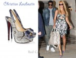 In Beyonce Knowles' Closet - Christian Louboutin Lady Peep 150 Python Slingbacks