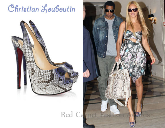 mens red bottom dress shoes - In Beyonce Knowles\u0026#39; Closet - Christian Louboutin Lady Peep 150 ...