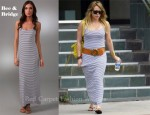 In Hilary Duff's Closet - Bec & Bridge Escape Striped Long Dress