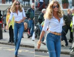 School Run Style: Elle Macpherson In Stella McCartney