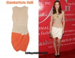 In Leighton Meester's Closet - Giambattista Valli Draped Colour-Block Silk-Crepe Dress