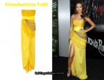 In Jamie Chung's Closet - Giambattista Valli Draped Silk-Chiffon Strapless Gown