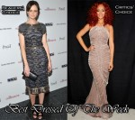 Best Dressed Of The Week - Alexis Bledel in Oscar de la Renta & Rihanna In Carlos Miele