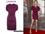 In Amanda Seyfried's Closet - Lanvin Pleated Dress