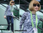 Anna Wintour In J Brand Jeans -  Sony Ericsson Open