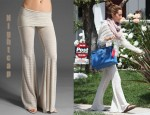 In Ashley Tisdale's Closet - Free People Hoodie & Nightcap Linen Flare Pants
