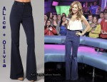 In Ashley Tisdale's Closet - Alice + Olivia High-Waist Bell Bottoms