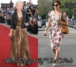 Best Dressed Of The Week - Helen Mirren In Dolce & Gabbana and Eva Mendes In Free People