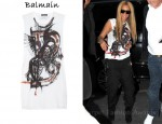 In Beyonce Knowles' Closet - Balmain Printed Tank & Balmain Harem Pants