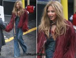 Beyonce Knowles In Roberto Cavalli - Video Shoot In New Jersey