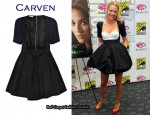 In Blake Lively's Closet - Carven Open-Front Dress