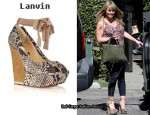 In Hilary Duff's Closet - Lanvin Snake-Skin Wedges