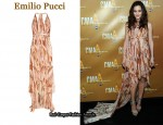 In Leighton Meester's Closet - Emilio Pucci Cut-Out Printed Dress
