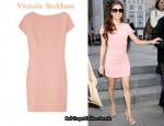 In Eva Longoria's Closet - Victoria Beckham Wool and Silk-Blend Crepe Dress