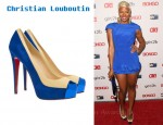 In Eva Pigford's Closet - Christian Louboutin Mago Leather & Suede Platforms