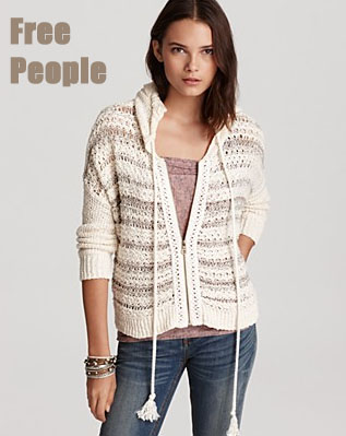 In Ashley Tisdale's Closet - Free People Hoodie & Nightcap Linen Flare