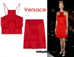 In January Jones' Closet - Versace Fringed Silk-Cady Top & Versace Fringed Silk-Cady Skirt