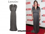 In Jennifer Connelly's Closet - Lanvin Pleated Washed-Satin Gown