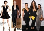 Kim Kardashian In Alexander McQueen, Khloe Kardashian In Gucci & Kourtney Kardashian In T Bags - Khloe And Lamar Odom's Fragrance Launch