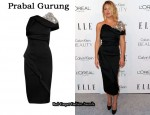 In Kate Hudson's Closet - Prabal Gurung Embellished One-Shoulder Dress