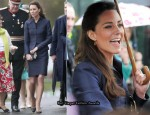 Kate Middleton In Vintage Amanda Wakeley - Witton County Park Royal Visit