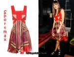 In Lake Bell's Closet - Sportmax Backless Silk Print Dress