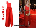 In Emma Stone's Closet - Lanvin Two Tone Dress