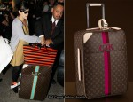 Lily Allen Travels With Louis Vuitton Mon Monogram Pegase & Prada Tote