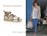 In Frankie Sandford's Closet - Christian Louboutin Hola Chica Studded Leather Flat Sandals