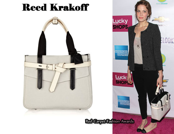 In Mandy Moore S Closet Reed Krakoff Boxer Tote Red