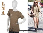 In Miley Cyrus' Closet - LnA Oversized Trashed Tee
