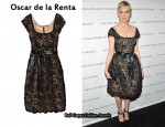 In Michelle Williams' Closet - Oscar de la Renta Floral-Appliquéd Lace Dress