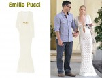 In LeAnn Rimes' Closet - Emilio Pucci Cut-Out Crocheted Gown