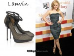 In Rachel McAdams' Closet - Lanvin Leather-Strapped Fishnet and Mesh Pumps